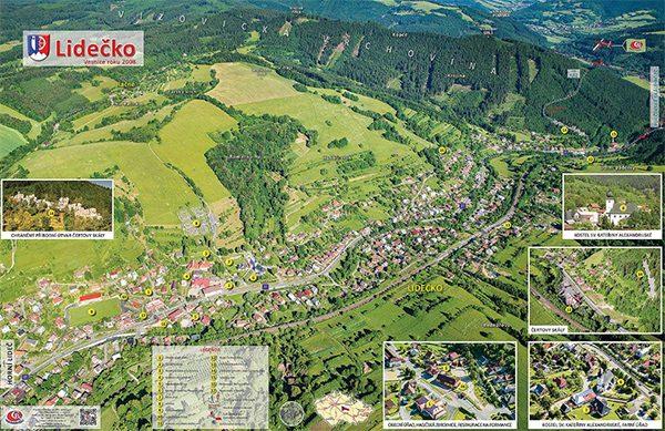 Interaktivní mapa Lidečka.